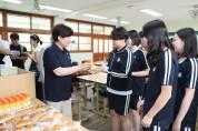 강은희 교육감, 교육공무직 노조 총파업으로 학교현장 방문