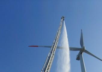 경북소방본부, 풍력발전기 화재대비 현장적응훈련 실시