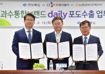경북도, 데일리(daily) 포도 15억 중국 시장 진출 본격화